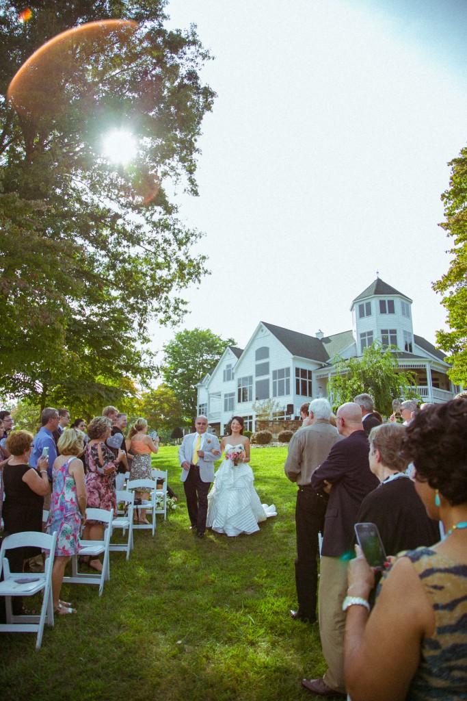 wedding ceremony at lake norris