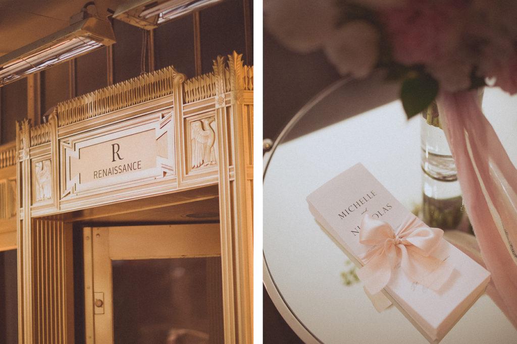 Renaissance Hotel wedding details