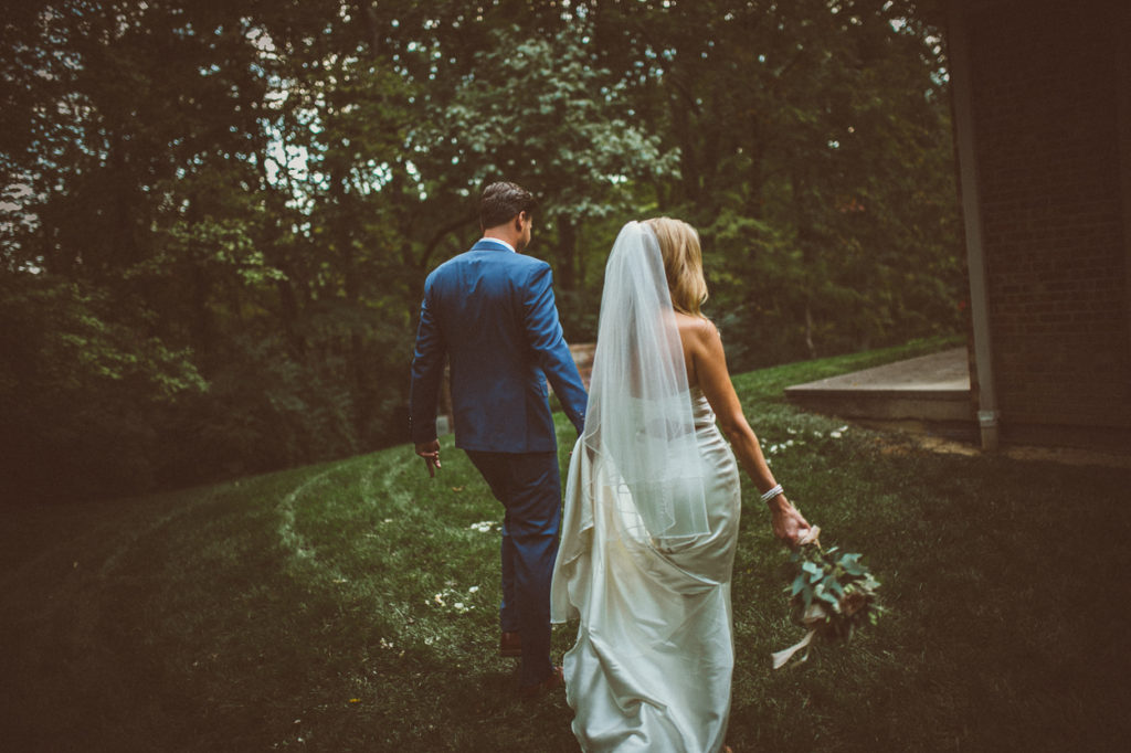 cincinnati backyard wedding couple