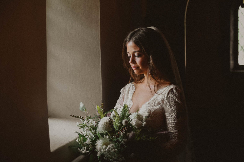 bride at mariemont chapel
